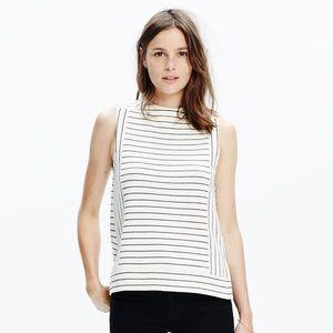 Madewell • Stripe Funnelneck Shell/Tank